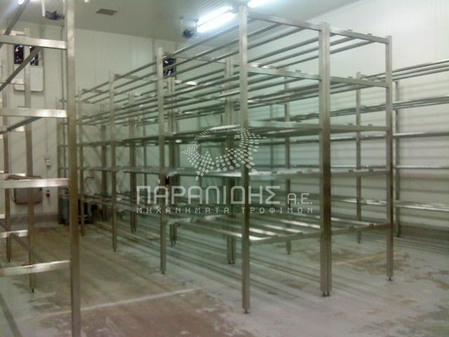 Storage shelves for dairy products