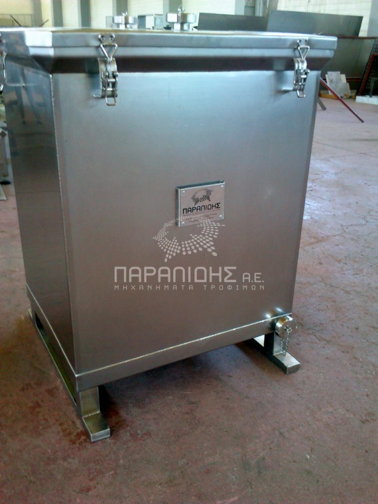 cheese storage tank with sealed cap
