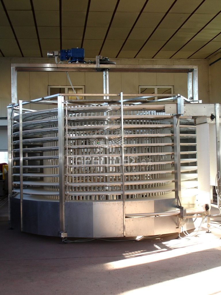 Food product refrigeration tower